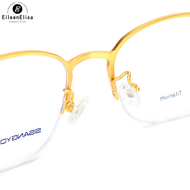 219797a917 EE Best Selling Half Frame Titanium Glasses Frame Men Prescription Optical  Glasses Rimless Glasses Men Eyeglass