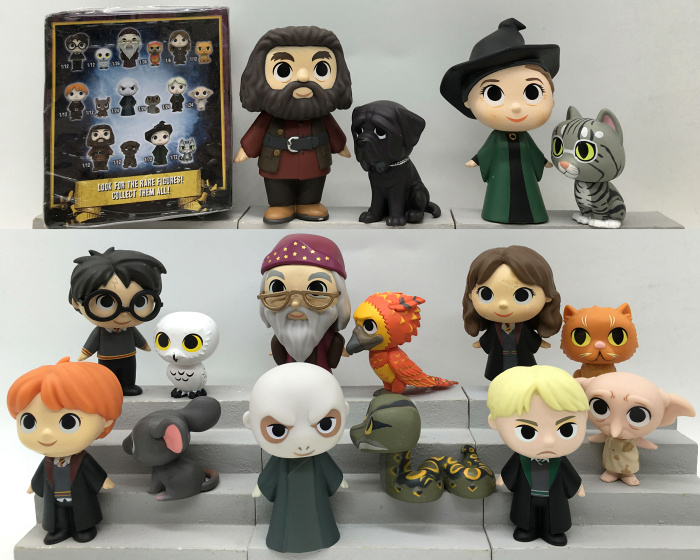 Imperfect Original Funko Mystery Mini: Harry Potter - Dobby, Ron, Lord Voldemort, Rubeus One Mystery Figure Action Figure No box