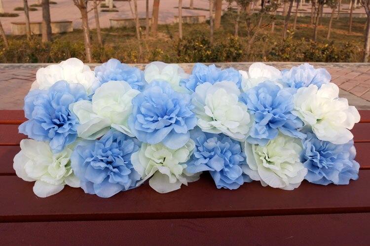 Lažni cvijeće red Arch cvijet vjenčanja dekoracija Stage party - Za blagdane i zabave - Foto 2