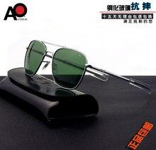 Солнцезащитные очки-авиаторы мужские прямоугольные, брендовые оптические солнечные аксессуары в стиле милитари, американской армии, 2020