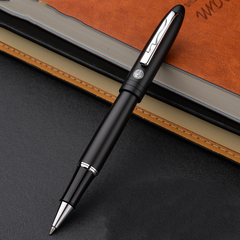 Classical Picasso Pimio Silver Clip Matte Black Rollerball Pen Black Ink Business Office Signature Pens with A High-end Gift Box