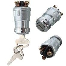 Универсальная замена замка зажигания цилиндр с 2 ключами для автомобиля Авто
