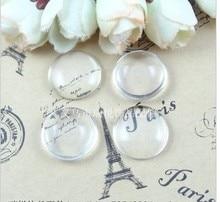 A1903 Gratis Verzending! 100 stks/partij 25mm Goede Kwaliteit Overkoepelde Ronde Transparant Glass Cabochons Cameo instellingen Glass Cover