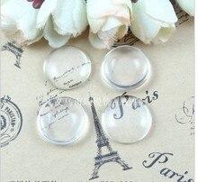 Cabujones de cristal transparente con cúpula para camafeo, cabujones de cristal transparente redondos de buena calidad, 100 unidades/lote, 25mm, A1903