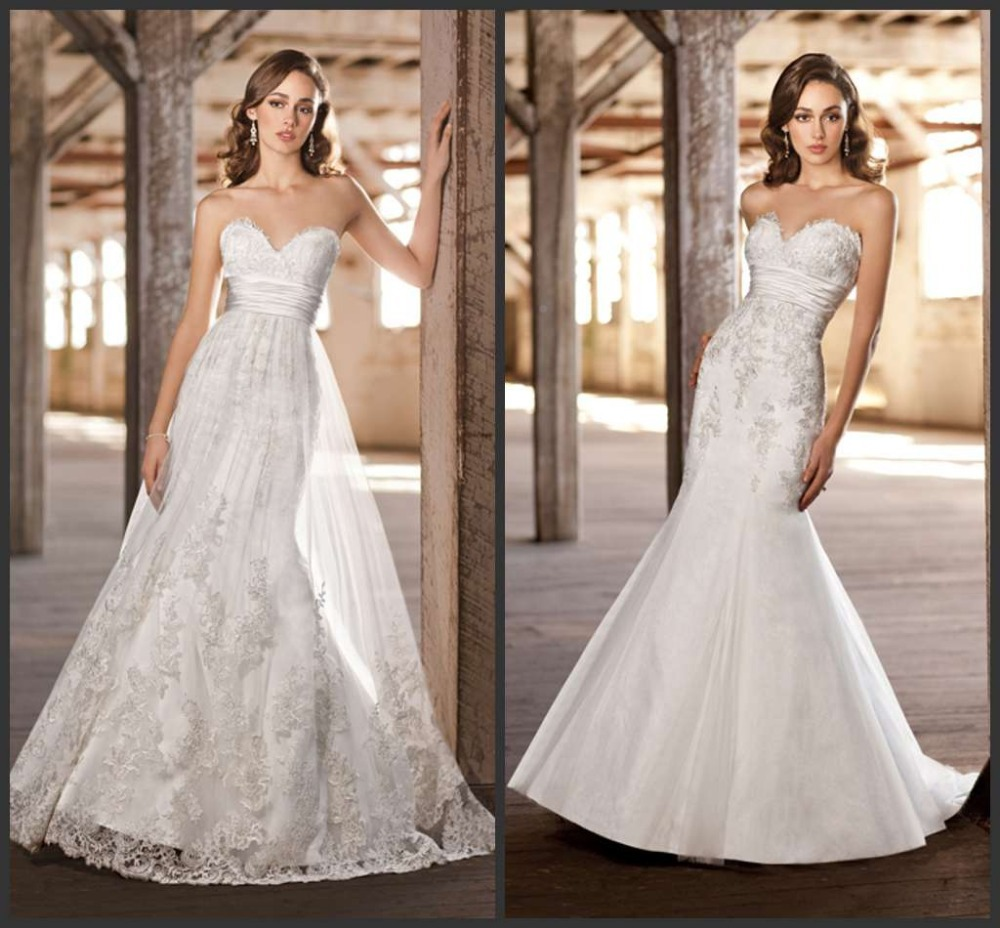 annalise goes to new york bridal market get the latest bridal trends and styles detachable wedding dress Left Liancarlo with detachable skirt Right Liancarlo without skirt
