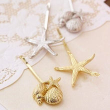 Mini order $ 1) European and American fashion jewelry retro metal shells and starfish hairpin CJWD85(China)