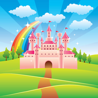 Thin Fabric Cloth Printed Photography Background Children S Castle Backdrop 5ft X 7ft D 742