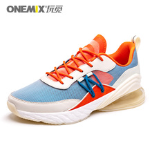 ONEMIX Colorful Men Air Cushion Running Shoes Breathable Textile Upper  Summer Sneakers Lightweight Outdoor Sport Trainers li ning men s cushion running shoes breathable textile sneakers support tpu lining sports shoes arhm057 xyp478