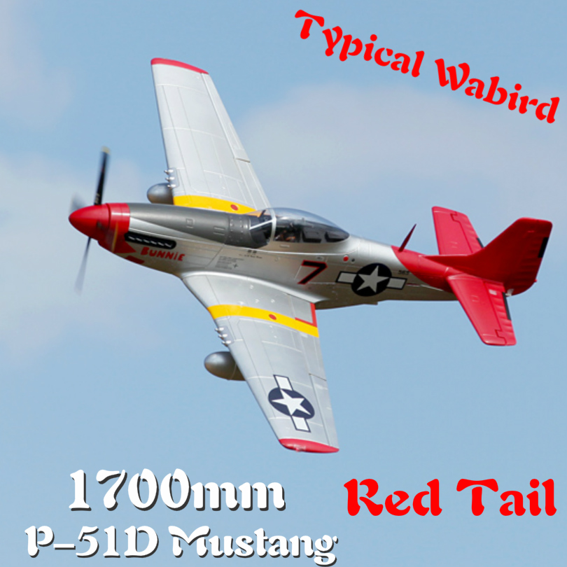FMS 1700 millimetri 1.7 M P51 P-51D Mustang Coda Rossa 6CH 6 S con Alette Ritrae PNP RC Aereo Warbird modello di Hobby, Aereo Aereo Avion