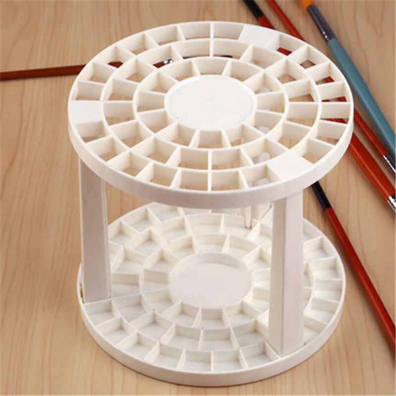 1 Piece Set Paint Brush Penholder Art Supplies White Round Plastic Drawing Fashion Product Set  цены