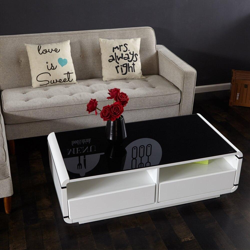 Aingoo Moderne Meuble Tv Blanc Et Noir Table Basse Salon Meubles  # Table Basse Pour Televiseur