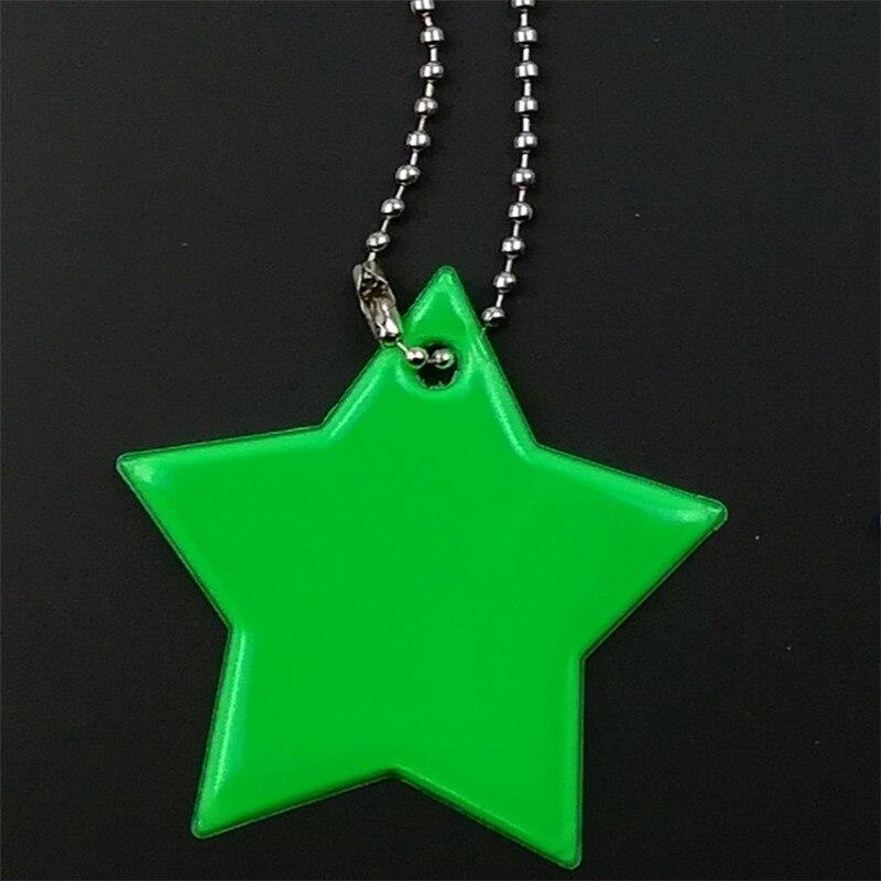 Маленькая звезда сумка брелок милый мягкий ПВХ отражающий брелок, подвеска для машины Шарм сумка Аксессуары для безопасности дорожного движения использования - Название цвета: green