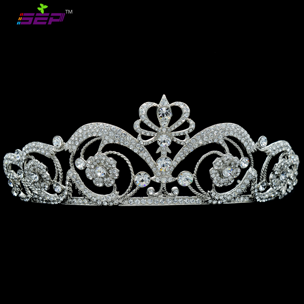 Real Bridal Tiara: Excellent Clear Real Austrian Crystal Rhinestone Tiaras