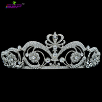 Excellent Clear Real Austrian Crystal Rhinestone Tiaras Crown for Bride Wedding Women Hair Jewelry Accessories SHA8664