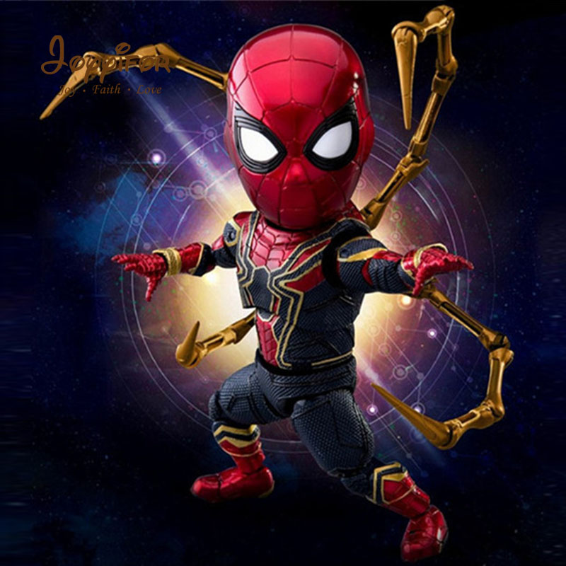 купить Joyyifor Hot Toys Cute Marvel Avengers Infinity War Iron Spider Spiderman Action Figure PVC Figure Collectible Model Toy 17cm недорого
