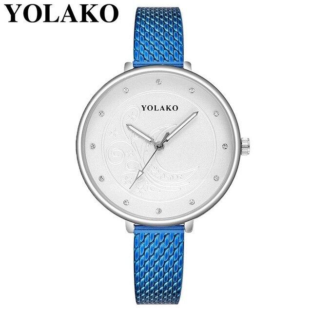 9230a73aa9a Transporte da gota Moda Mulheres de Prata Padrão de Flor de Plástico  Relógios De Pulso De