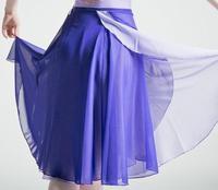 Adulto gonna Lunga Balletto di Danza Gonna In Chiffon Pratica Insegnante Dress Lace Up Ballet Tutu Body Donne Doppio Colore
