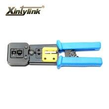 Herramientas RJ45 RJ11 EZ xintylink presionando línea abrazadera arrugador Que Prensa Pelacables alicates pinzas para red EZ conectores rj45
