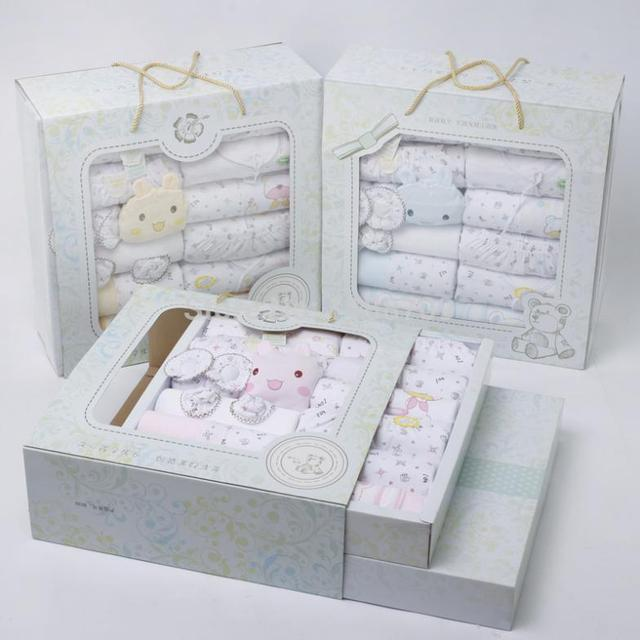 New Spring Autumn Babies 24pieces Sets Gift Box Pure Cotton Newborn