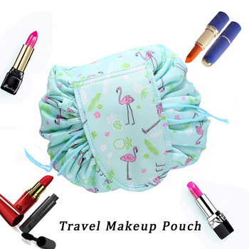Lazy Quick Pack All-In-One Drawstring Makeup Bag Portable Travel Cosmetic Bag Large Capacity Make up Organizer for Women Girls Несессер