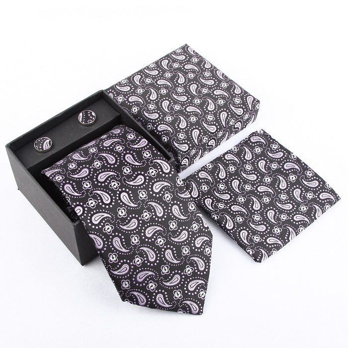 Набор галстуков галстуки Запонки Галстуки для мужчин квадранные Карманные Платки свадебный подарок - Цвет: 29