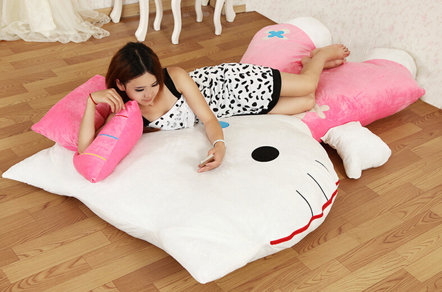 Newest arrival 1pcs  Red/Pink Kitty cat frame sofa bed tatami packed in vacuum bag via EMS.4kinds for choose.