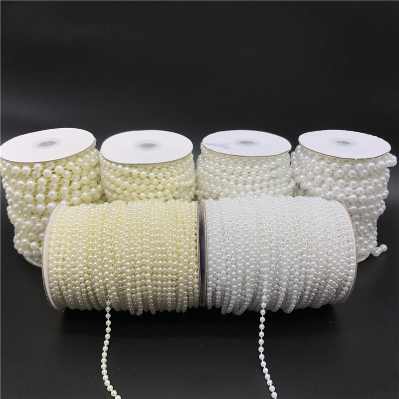 2.5-10mm White Ivory Imitation Pearl Beads Chain Garland Flowers Acrylic Beads For Wedding Decoration DIY Jewelry Accessories(China)