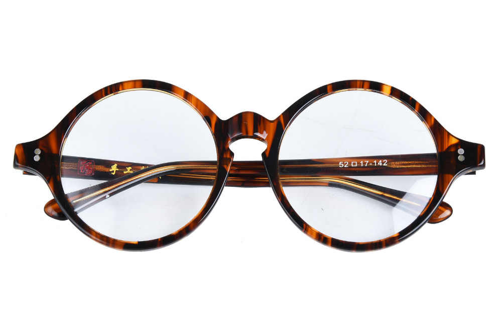 5cd5c318b5 ... Vintage Tortoise Small Round 38mm Johnny Depp Japanese Hand Made Acetate  Eyeglass Frames Myopia Rx able ...
