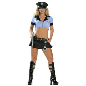 VASHEJIANG Sexy Police Costume for Adult Women Policewoman Outfit Fancy Cosplay Halloween Female Officer Cop Uniform Role Play umorden police officer cops costume for adult women men teen girls policeman uniform halloween carnival mardi gras party dress
