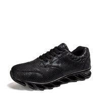 Mens Running Sneakers 2016 Black Grey Running Trainer Men Run Barefoot Height Increasing Mens Track Shoes