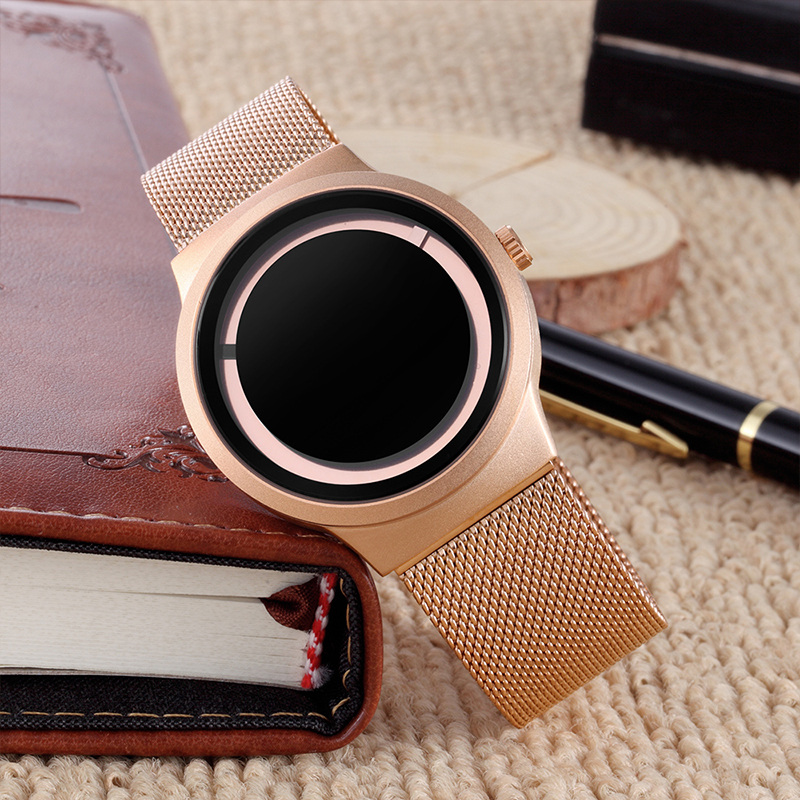Skone New Fashion Creative Unique Men's Watches Luxury Brand Mesh Steel Male Simple Quartz Watch Gift Watch for Friends Hours