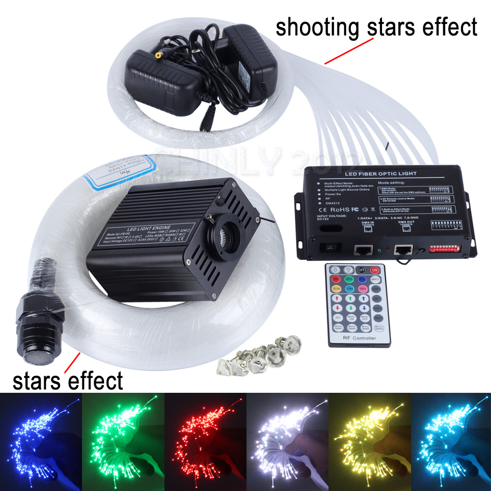 16W RGBW 28key remote LED Fiber Optic Star Ceiling Light Kit mixed 335 strands 4m , 0.75mm+1.0mm+1.5mm+3 meteors effect16W RGBW 28key remote LED Fiber Optic Star Ceiling Light Kit mixed 335 strands 4m , 0.75mm+1.0mm+1.5mm+3 meteors effect