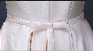 Image 5 - 2020 美容エミリーロング格安ステインピンク黒のイブニングドレスボートネック床長 A ラインレースアップウェディングドレスドレスパーティー日