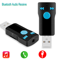 Bluetooth USB Receiver Stereo Music Receiver Adapter Supports Handfree Calling 3.5MM A2DP AUX Audio SD Card Reader for PC