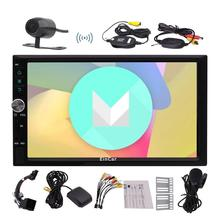 free camera 2din Android 6.0 Car radio GPS navigation 7 inch Quad Core car head unit stereo audio player with Bluetooth WIFI Map
