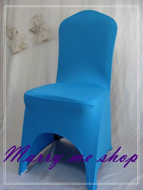 Blue Spandex Chair Covers Wheelchair Desk 100 Baby For Weddings Sale Lycra China Wedding Free Shipping