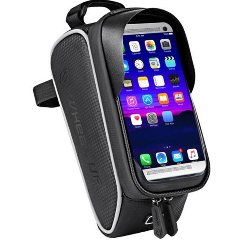 WHEEL UP MTB Bike Bag 6 Touchscreen Bicycle Frame Saddle Cycling Top Waterproof Tube Phone Case Accessories