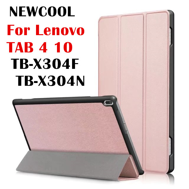 Case For Lenovo Tab4 10 ,KST Magnet Leather Case  for Lenovo TAB 4 10 TB-X304F TB-X304N Flip Cover tablet Case Protective shell new slim folio bracket for lenovo a7 20f standing tablet cover for lenovo tab 2 a7 20 flip protective tablet case