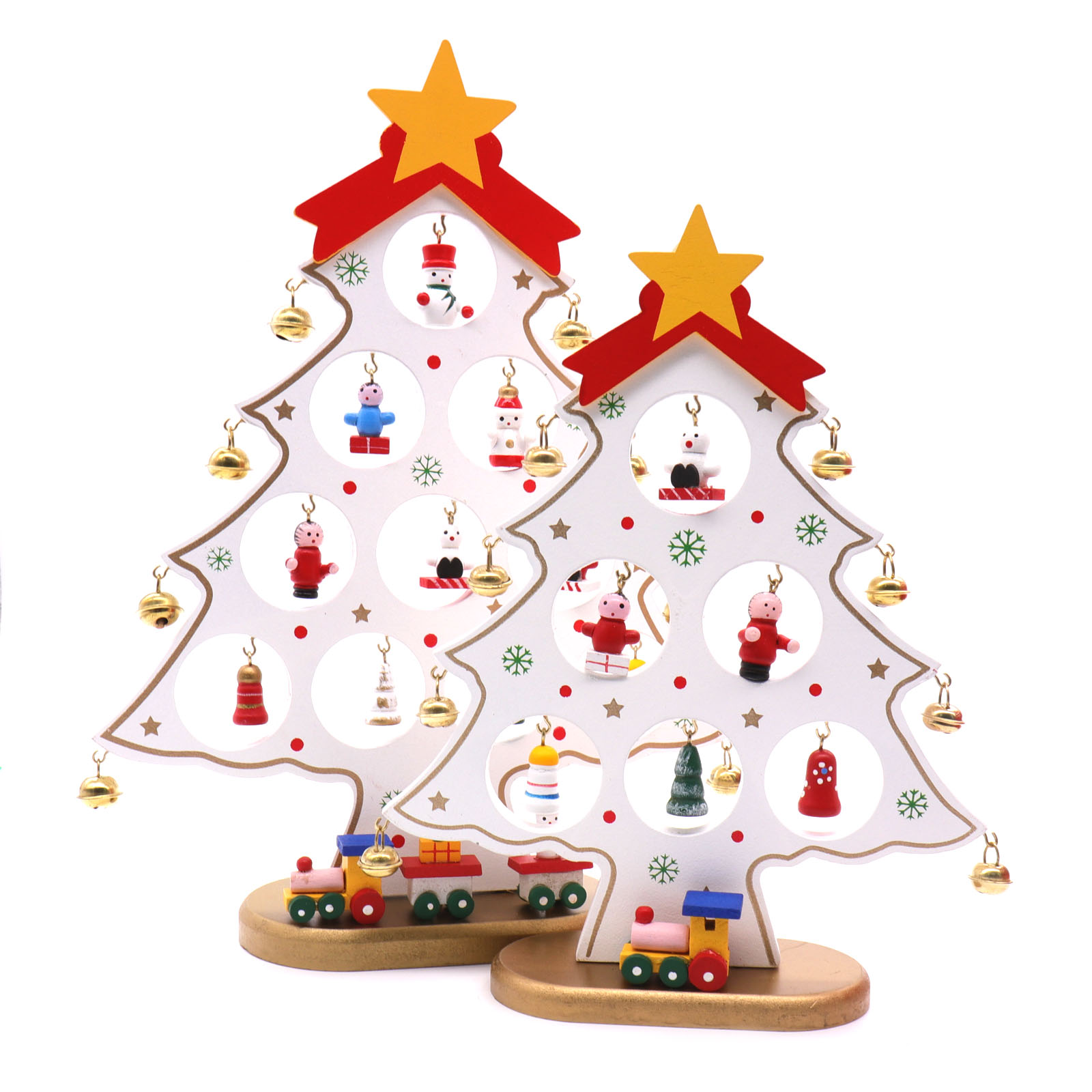 3Sizes Wooden Artificial Christmas Tree Decorations Ornaments Wood Mini Christmas Trees Gift Ornament Table Decoration Christmas Decorations Wholesale