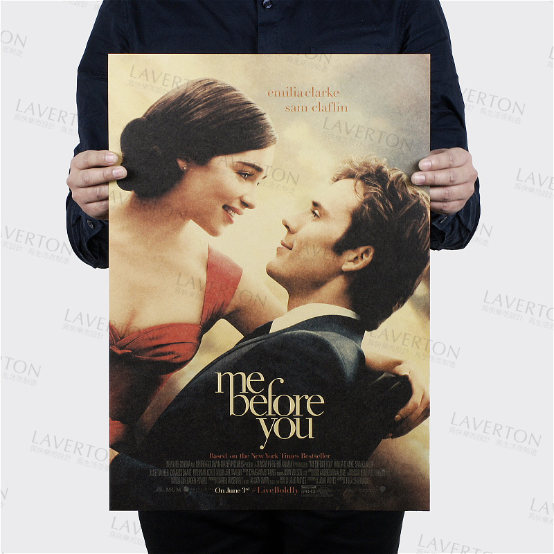 Me Before You/classic love movie film/kraft paper/Cafe/bar poster/Retro Poster/decorative painting 51x35.5cm Free shipping ...