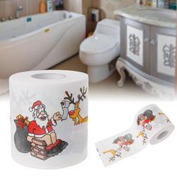 2 слоя Рождество Санта Клаус олень туалетной Бумага ткани Декор в гостиную инструмент