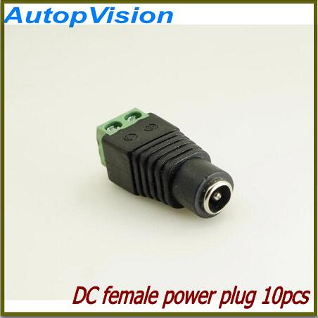 Free Shipping10pcs Easy DC Female Connectors Plug 5.5 X 2.1mm Jack For Led Strip Light 3528 5050 Adapter Power Supply Connector