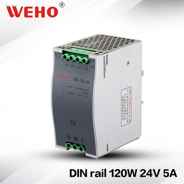 DR 120 24) Switched mode power supply 120w 10a 12v dc constant ...