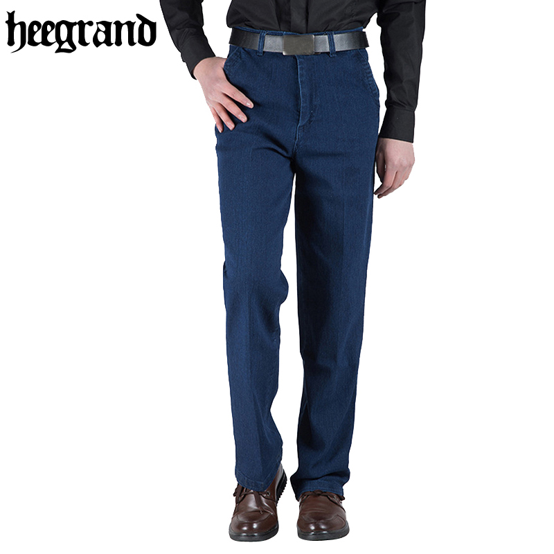 HEE GRAND 2017 Casual Mens Winter Stretch Thicken Jeans Warm High Quality Denim Jean Fashion Pants Size MKN875