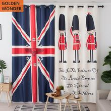 Modern Simple Printing British Nordic Kids Curtains Cartoon Curtain Bedroom Shade Customized Living Room Home Decoration