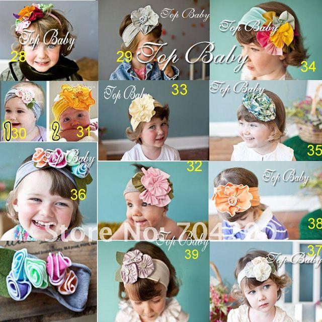 20pcs/lot-TOP BABY HEADBANDs hair head wrap band baby infant newborn girl's Headband