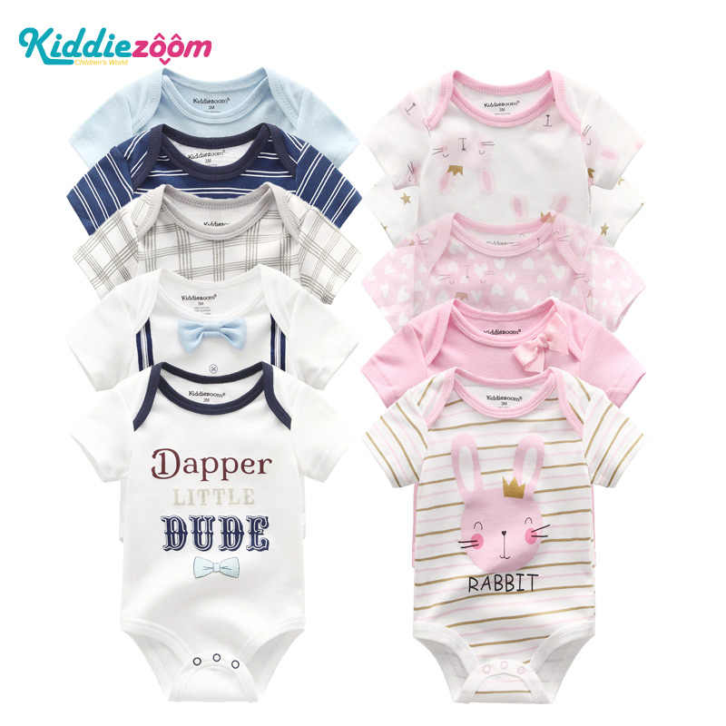 Newborn Baby Rompers Summer Unisex Infant Clothes 100% Soft Cotton Baby Girl Clothing Cartoon Playsuits Striped for Baby Boys