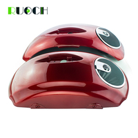 Motorcycle Hard Saddlebag Speaker Lids w/ Speaker Grill for Indian Chieftain Roadmaster 2014 2015