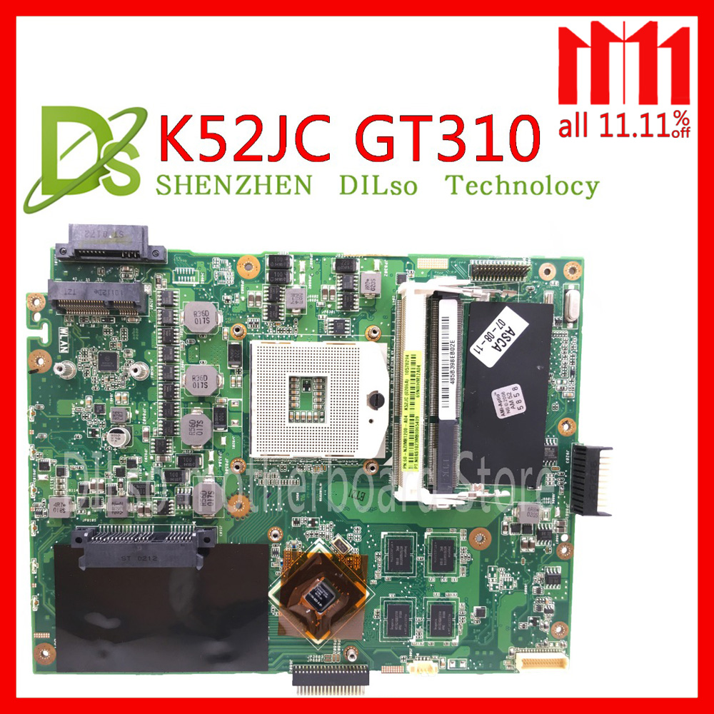 KEFU K52JC for ASUS K52JC K52JR K52JT K52J mainboard REV2.0 motherboard K52JC GT310M 1GB motherboard integrated 100% Test work for asus k52 x52j a52j k52j k52jr k52jt k52jb k52ju k52je k52d x52d a52d k52dy k52de k52dr audio usb io board interface board