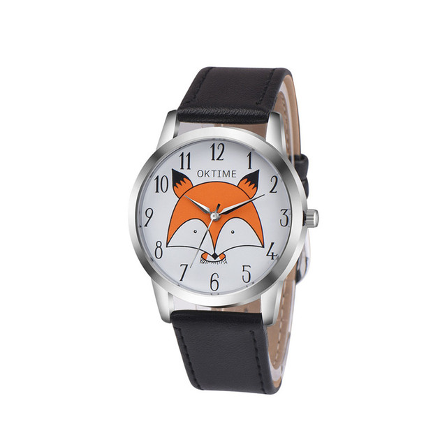 Women Watches 2017 Ladies Wristwatches Retro Cartoon Fox Design Relojes Mujer Le